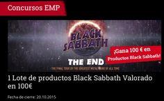 **CONCURSOS EMP** Gana 100€ en Productos de BLACK SABBATH!!! http://emp.me/B8b fecha de cierre : 20.10.2015 #EMPSpain #ConcursosEMP #BlackSabbath