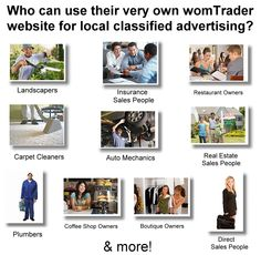 Who can use their own womTrader website for local classifieds?