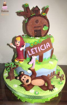 Torta Masha y el Oso #TortaMashaYelOso #TortasDecoradas #DulcesKaprichos