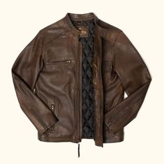 These vintage style brown leather jackets for men give any outfit a classic rugged aesthetic. Keep it classy and casual — the more you wear this biker jacket, the better it looks and feels. Mens Leather Coats, Men's Leather Jacket, Moto Jacket, Leather Jackets, Brown Leather, Denim Jackets, Rugged Style, Black Hoodie, Mens Fashion
