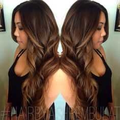 Caramel Balayage Highlight, Brown Hair Caramel Highlights, Hair Brown ...