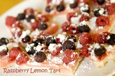 raspberry lemon tart @yourhomebasedmom.com  #barcookies,#cookies, #recipes