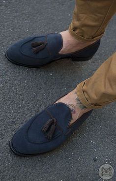 6185ddeb15d Mens blue Loafers with brown khakis. Rashidul Karim Khan · Men s tassel  loafers