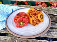 Greek Gemista (Oven Baked or Steamed Stuffed Vegetables with Rice and Mince Meat ) - Vicki's Greek Recipes Carolina Rice, Minced Meat Recipe, Steamer Recipes, Greek Dishes, Oven Dishes, Mince Meat, Greek Recipes, Stuffed Green Peppers