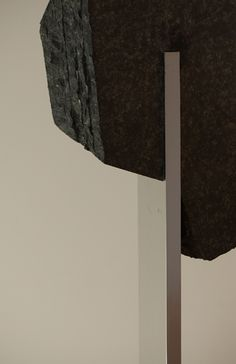 Stone Sculpture with aluminum base at the Noguchi Museum - Basalt, Marble and Granite Sculptures of Isamu Noguchi - Nalata Nalata