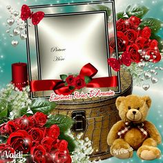 roses for you picture Frames Happy Birthday Frame, Happy Birthday Pictures, Birthday Frames, Good Night Love Messages, Good Morning Image Quotes, Happy Friendship Day, Christmas Wreaths, Christmas Ornaments, Photo Picture Frames