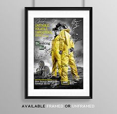 Breaking bad cast signed autograph print #poster photo tv show #series #season dv,  View more on the LINK: 	http://www.zeppy.io/product/gb/2/191712021526/