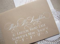 Wedding Calligraphy  Hand Written Envelope