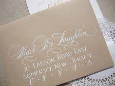 Rotulación de sobres Wedding Calligraphy  Hand Written Envelope