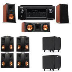Klipsch RP-150M-CH Monitor Speaker 7.2 SDS12 Denon AVR-X2100W :: 7.2 Speaker Placement