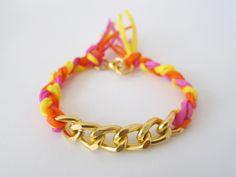 DIY Silk Chain Friendship Bracelet by Thanks, I Made It