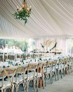 draped wedding tent for the reception