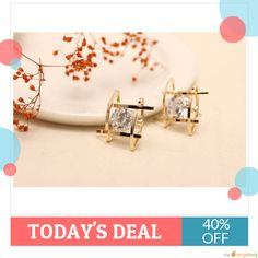 Today Only! 40% OFF this item.  Follow us on Pinterest to be the first to see our exciting Daily Deals. Today's Product: Gold Rhinestone Stud Earrings Buy now: https://small.bz/AArlod7 #musthave #loveit #instacool #shop #shopping #onlineshopping #instashop #instagood #instafollow #photooftheday #picoftheday #love #OTstores #smallbiz #sale #dailydeal #dealoftheday #todayonly #instadaily