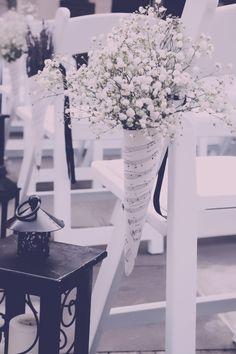 aisle decoration wedding- decoratie bruiloft ceremonie