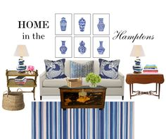 Blue and White Monday - a fun design exercise from the Pink Pagoda featuring oomph pillows!