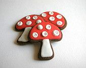Edible Chocolate Filled Toadstools - flat