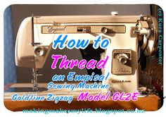 Making Makes My Life: Tutorial: How To Thread an Empisal Sewing Machine Woodworking Guide, Custom Woodworking, Woodworking Projects Plans, Teds Woodworking, Sewing Machine Thread, Vintage Sewing Machines, Sewing For Beginners, Learn To Sew, Sewing Hacks