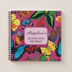 Beaucoup Butterflies! Recipe Notebook - office ideas diy customize special
