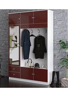 Kompaktgarderobe »Kompakta« - weiß-bordeaux Decoration, Entryway, Shopping, Furniture, Home Decor, Bordeaux, Compact, Products, Clothes Racks