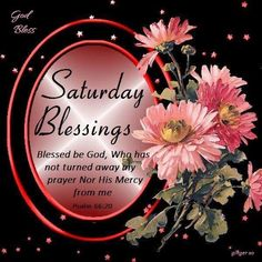 """SATURDAY BLESSINGS: Psalm 66:20 (1611 KJV !!!!) """" Blessed be God, which hath not turned away my prayer, nor his mercy from me."""""""
