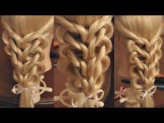 "Коса на резинках - ""Калейдоскоп - сердца"" - YouTube"