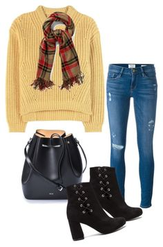 """""""Untitled #538"""" by el-khawla ❤ liked on Polyvore featuring Acne Studios, N°21 and Frame Denim"""