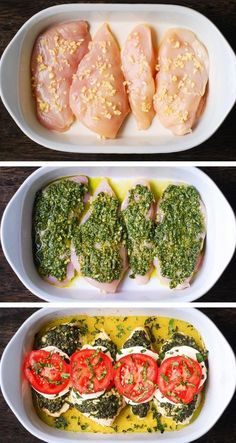 Basil Pesto Tomato Mozzarella Chicken Bake – low carb and gluten-free recipe. It's easy to make, and only one pan is needed. Basil Pesto Tomato Mozzarella Chicken Bake – low carb and gluten-free recipe. It's easy to make, and only one pan is needed. Diet Recipes, Cooking Recipes, Recipies, Meal Prep Recipes, Health Food Recipes, Smoothie Recipes, Low Calorie Chicken Recipes, Vegan Recipes, Snacks Recipes