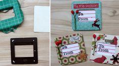 DIY decorations noel etiquettes cadeaux boites diapositives Blog Queen Kat Designs