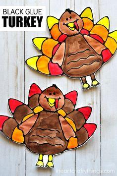 Black Glue Turkey Art Project
