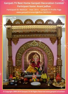 Anant Jadhav Home Ganpati Picture View more pictures and videos of Ganpati Decoration at Stage Decorations, Festival Decorations, Decorating With Pictures, Decoration Pictures, Thermocol Craft, Ganpati Picture, Ganesh Chaturthi Decoration, Ganpati Decoration At Home, Ganpati Festival
