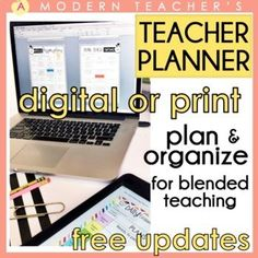 FREE UPDATES FOR LIFE! Google Drive/Slides Ready! Teacher Planner / Teacher Binder ; Great for Distance Learning and blended at-home, at-school learning! 2020-2021 and beyond! Ready to go and EASY TO USE!*********Watch how easy it is to customize HERE and how easy it is to put together HERE! *****... Teacher Binder, Teacher Planner, Teacher Organization, Student Teacher, Guided Reading Lesson Plans, Math Lesson Plans, Parent Teacher Conference Forms, Problem Based Learning, Curriculum Mapping