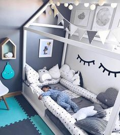 60 Montessori Room Options That Are a Flush Explosion! - 60 Montessori Room Options That Are a Flush Explosion! You are in the right place about diy Here we - Baby Boy Room Decor, Baby Room Diy, Baby Bedroom, Baby Boy Rooms, Dream Bedroom, Kids Bedroom, Diy Baby, Nursery Boy, 4 Year Old Girl Bedroom