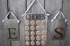 GroopDealz | Custom Chore Chart System for Two Love this idea!  Could do with Cricut or Craft Robo!