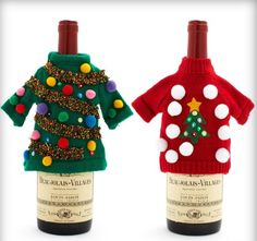 18. Set up a make your own sweater bottle cover station or give these as prizes for the tackiest sweater!