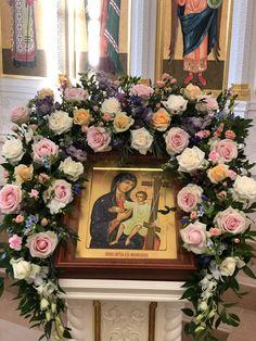 Floral Wreath, Mary, Wreaths, Flowers, Home Decor, Homemade Home Decor, Flower Crowns, Door Wreaths, Floral