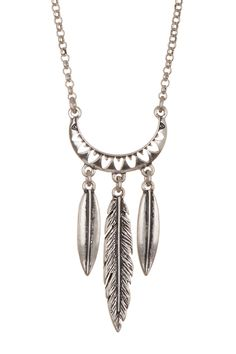 Lucky Brand - Mini Feather Pendant Necklace at Nordstrom Rack. Free Shipping on orders over $100.