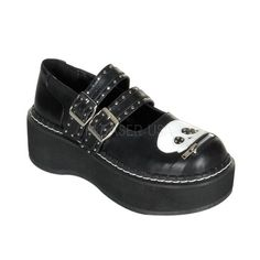 Demonia Zip-Lip Skull Emily Shoes :: VampireFreaks Store :: Gothic Clothing, Cyber-goth, punk, metal, alternative, rave, freak fashions