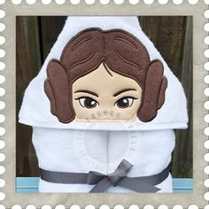 Starship Princess hooded towel design. #Embroidery #Applique