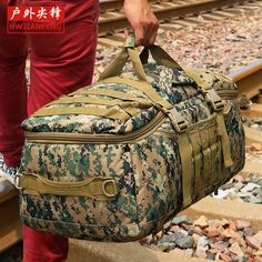 59.38$  Buy here - http://aliuml.worldwells.pw/go.php?t=32387135694 - Free shipping Advanced Camouflage multifunctional Luggage bag large capacity bag casual unisex backpack Travel bag YCW9339
