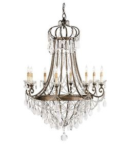 Currey and Company 9047 Scarlet 33 Inch Chandelier