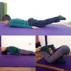 A little yogi doing his fav. Asanas ! Yoga yoga yoga !