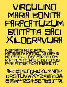 © Eldes.com - TIPOGRAFIA | Eldes Cordel. Pôster de apresentação do tipo Eldes Cordel. #cordel #woodcut #typography