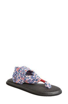 Sanuk 'Yoga Sling - Patriot' Sandal (Women) Sanuk Sandals, Yoga For Kids, Cute Shoes, Kicks, Summer Outfits, Nordstrom, Slip On, Sneakers, Women