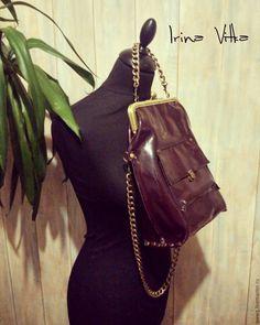 """Купить Кожаная сумка""""Beatrice"""" - бордовый, однотонный, кожа натуральная, Кожаная сумка, сумка из натуральной кожи"""