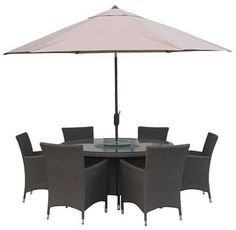 St Louis Garden Round Glass Table and Chair Set