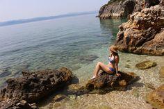 The goddess on Platania secret beach