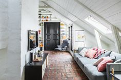 Attic apartment | same home different decor here Follow Gravity Home: Blog - Instagram - Pinterest - Facebook - Shop