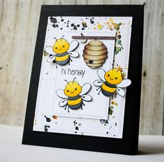 I scrap my way: Clearly Besotted August Release Teaser Day 4 Scrapbooking, Scrapbook Cards, Diy Crafts Love, Bee Cards, Bee Theme, Bee Happy, Animal Cards, Copics, Funny Cards