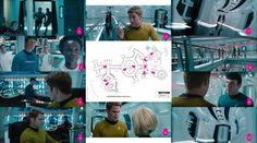 """""""Star Trek Into Darkness"""" shooting set. The various corridors, hatches and turbo lifts were used for various locations. The map is the layout of the soundstage and should not be considered the layout of the ship. The numbers refer to that scene with the arrow pointing in the camera's direction. #startrek #startrekintodarkness #shootingonasoundstage #behindthescenes"""