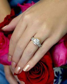 49 Stunning Engagement Ring Ideas That We Love ❤ engagement ring ideas round cut engagement rings1 #weddingforward #wedding #bride